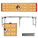 NCAA York College Cardinals Basketball Court Version Folding Tailgate Table, 8'