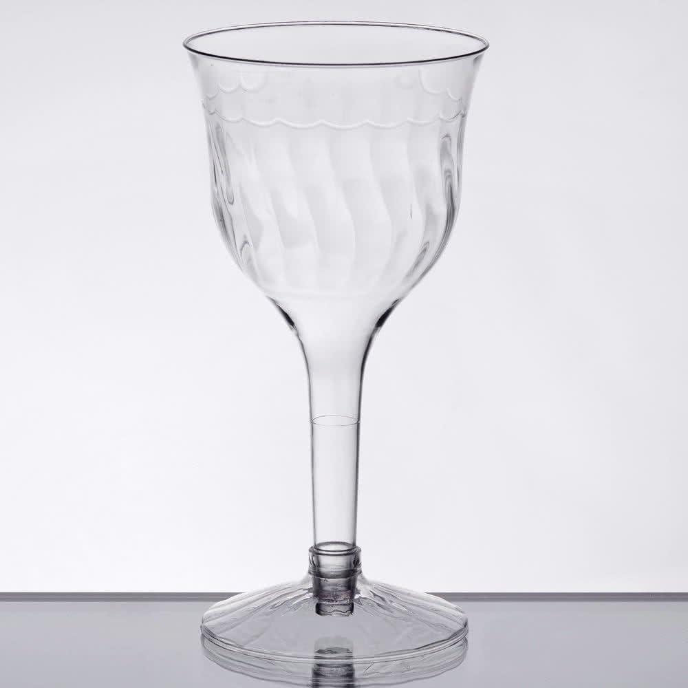 Elegantes Hard Kunststoff WeinkelchCupGlas – klar – 6oz