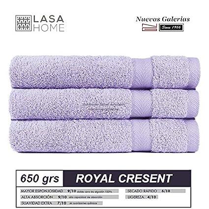 Lasa Royal Cresent 650 Gramos - Juego de 3 Toallas para tocador, 40 x 60