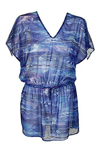 Ralph Lauren Lauren Blue Calypso Ikat-Print Tunic Cover Up -