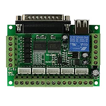 5 axis CNC Breakout Board with optical coupler For Stepper Motor Driver MACH3 CZ