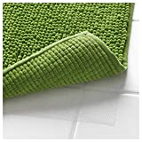 Klickpick Designs Thick Plush Bath Mats Soft Bath Mat Chenille Washable Bath Rugs Microfiber Shaggy Non Slip Bathroom Rug Anti Slip Absorbent Bath Rug Carpet with Non Skid Backing- Green,16x24 Inches