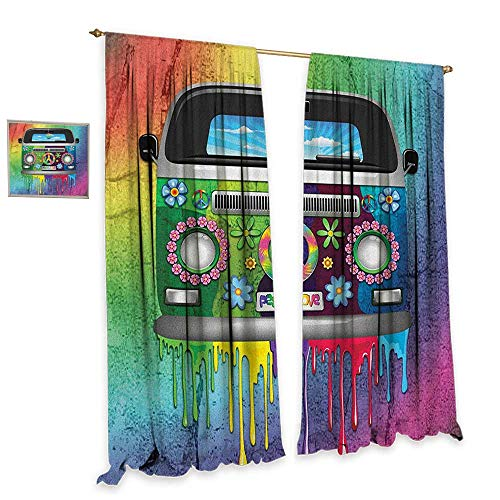 Groovy Patterned Drape for Glass Door Old Style