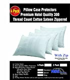 4 Pack Pillow Protectors Cases Standard Premium High Thread Count...