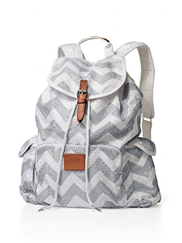 Victoria's Secret PINK Backpack School Bag Sequin Bling Chevron LIMITED EDITION (Victoria Chevron)