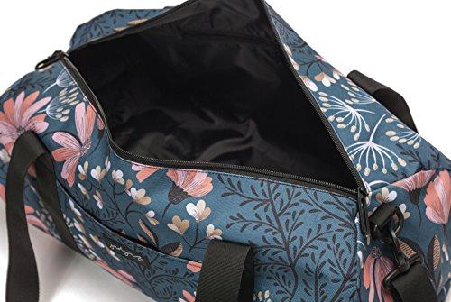 Jadyn B 19'' Barrel Women's Duffel Bag, Navy Floral by Jadyn B (Image #7)