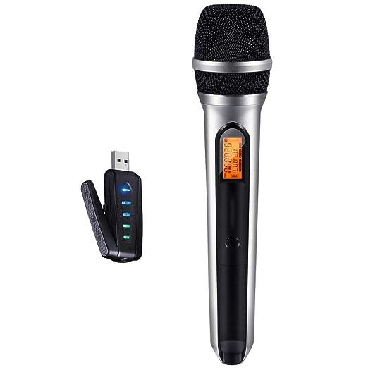 QIAN BAIHUI Micrófono inalámbrico USB Karaoke 2019, micrófono ...