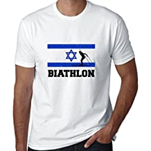 Hollywood Thread Israel Olympic - Biathlon - Flag - Silhouette Men's T-Shirt
