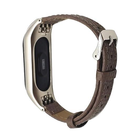 ❀ para la Pulsera de Xiaomi Miband 3, Banda de Deporte de Pulsera de Cuero Elegante Reloj de Pulsera Correa Absolute: Amazon.es: Ropa y accesorios