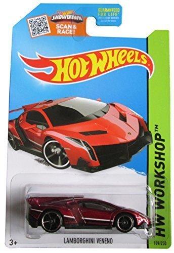 Hot Wheels 2015 HW Workshop Lamborghini Veneno 189/250, Maroon