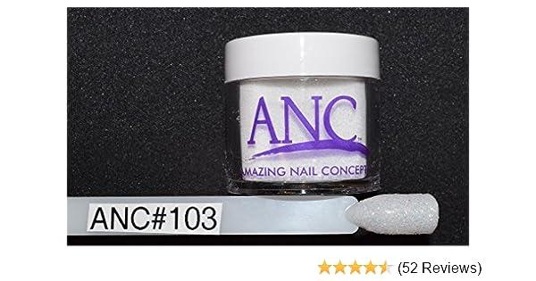 7bb1aae66b Amazon.com : ANC Dipping Powder 1 oz #103 White Glitter : Beauty