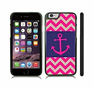 Case Cover For SamSung Galaxy S5 with Chevron Pattern Hot Pink/ Dark Blue/ Grey Stripe Pink Anchor Snap-on Cover, Hard Carrying Case (Black)