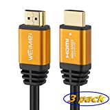 100 Feet 4K HDMI Cable 2.0 WEIMEI HDMI Cord 100ft with IC Booster Support 4K@60Hz UHD 2160P Ethernet 3D ARC with Gold-Plated Connector and Bare Copper Conductor (from 6ft to 100 ft for Choices)