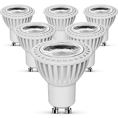 KINDEEP MR16 GU10 LED Bulb, 5W (50W Equivalent), 450LM, Non-Dimmable Track Light Bulbs, 2 Years Warranty (Warm White 3000K, 6-Pack)
