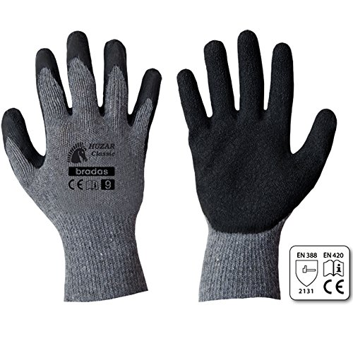 12 Paar Arbeitshandschuhe Latexbeschichtung Gr. 9-11 Sicherheitshandschuhe Latex Handschuhe Schutzhandschuhe Arbeitsschutzhandschuhe Montagehandschuhe (9)