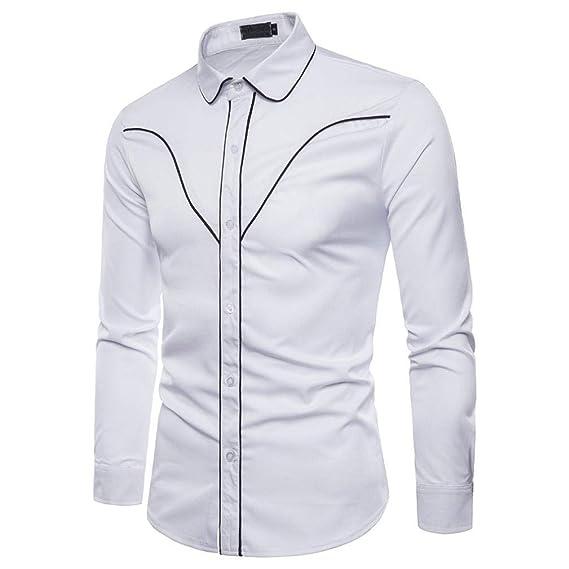 Blusa de Hombre de BaZhaHei, Men Camisetas de Hombre Cool Shirt Casual de Manga Larga