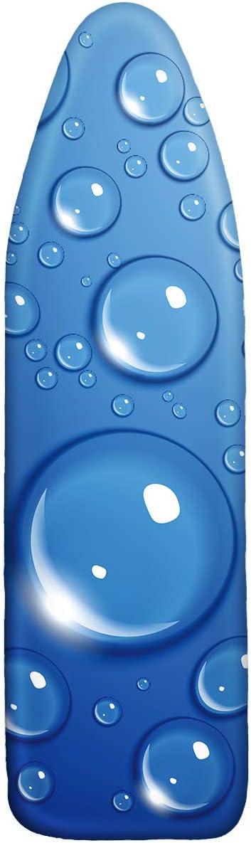 HANSHI Smartfit - Funda para Tabla de Planchar de algodón 100% con Espuma Acolchada de 6 mm Que se Adapta a Tablas de hasta 54 x 15 Pulgadas, Azul, 54