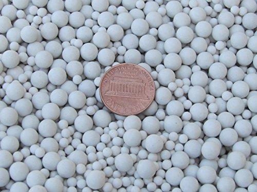 6 Lb 4 mm Polishing Sphere Ceramic Porcelain Tumbling Media Non-Abrasive