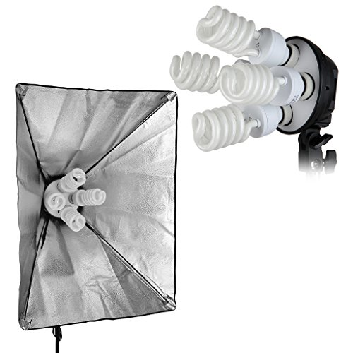 CRAPHY Photography Studio Lights Continuous Soft Box Lighting Kit 45W 5500k Daylight Soft Box (20x26