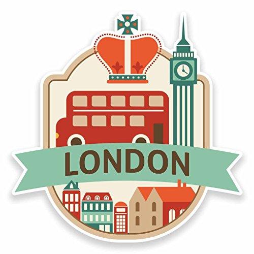 2 x 10cm/100mm London UK England Vinyl Sticker Decal Laptop Car Travel Luggage Label Tag #9492