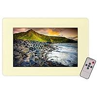 Pyle PLVW17IW Digital Fotorahme - Digitale Bilderrahmen (1280 x 800 Pixel, LCD, 16:9, Gelb)