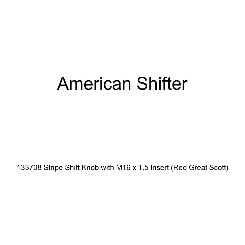 American Shifter 133708 Stripe Shift Knob with M16 x 1.5 Insert Red Great Scott