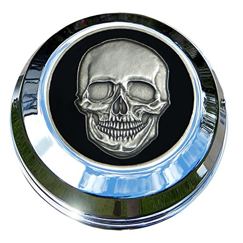 MotorDog69 Harley Gas Cap Coin Mount Set with Skull & Crossbones for Softail Dyna Road King Sportster...... (Harley Davidson Softail Crossbones)