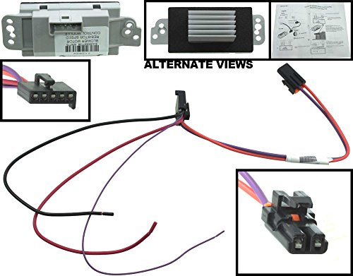 new design blower motor speed control module resistor for  apdty 112822 blower motor resistor speed control upgrade module auto temp control 2003 2009 hummer h2 04 07 buick rainier 2002 2009 chevrolet trailblazer or