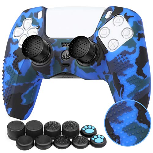 Benazcap Silicone Skin Accessories for PS5 DualSense Wireless Controller Grip Covers Case with Anti-Slip Silicone…