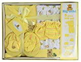Big Oshi 5 Piece Layette Newborn Baby Gift Set - Great Baby Shower or Registry Gift Box to Welcome a New Arrival - All the Essentials - Pants, Shirt, Cap, Mittens and Booties, Yellow