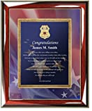 Personalized Poetry Law Enforcement Picture Frame Police Sheriff Academy School Graduation Present for Homeland Security, FBI Agent State Trooper Graduate Poem - Parent or Friend Congratulation Police or Sheriff Academy Graduation Gift