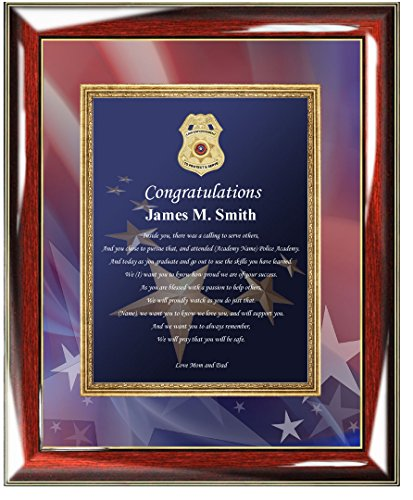 Personalized Poetry Law Enforcement Picture Frame Police Sheriff ...