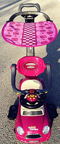 Push Canopy (Purple Kids Ride On 3 In 1 Push Car with Canopy Toddler Wagon W Handle Horn Outdoor Stroller &Easy Wheel &electronic)