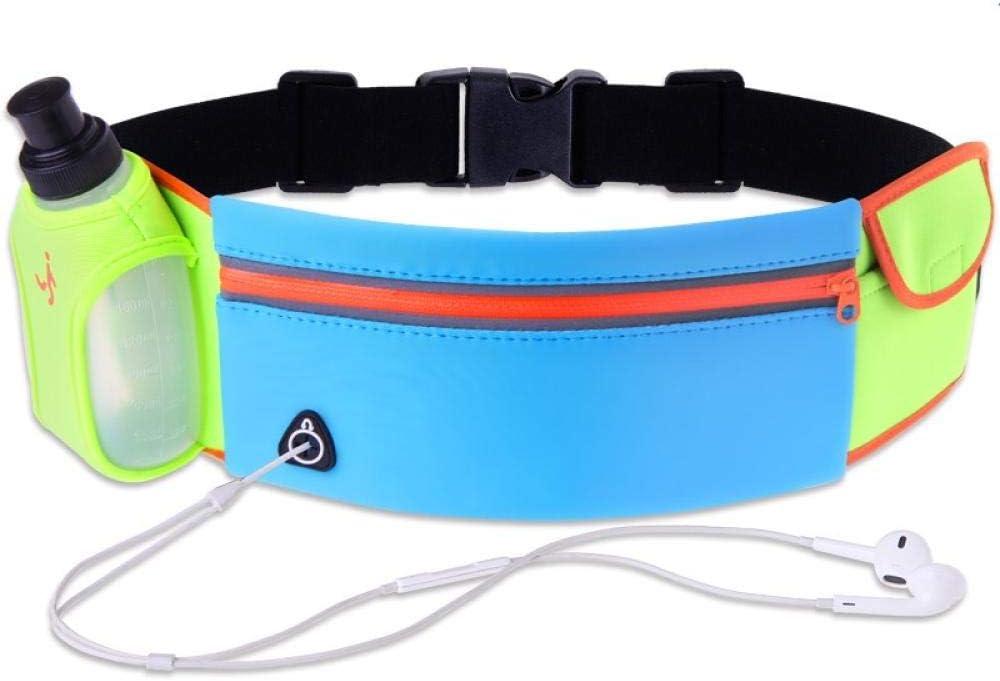 Cinturón De Caldera Multifuncional Bolsa De Bolsillo para Correr Deportivo Hombres Y Mujeres Equipo para Correr Al Aire Libre Azul Plus Verde