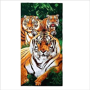 jhxena - Secado Rápido Portable Toalla De Playa Piscina Fibra Microfina Toalla Playa Manta,Tiger: Amazon.es: Hogar