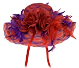 Black Friday / Cyber Monday Deal Red Hat Ladies Society Dream Hat/ Red and Purple
