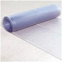 "Clear Plastic Runner - Rug Carpet Ribbed Grip Plastic Protector Mat (27"" x 6FT)"