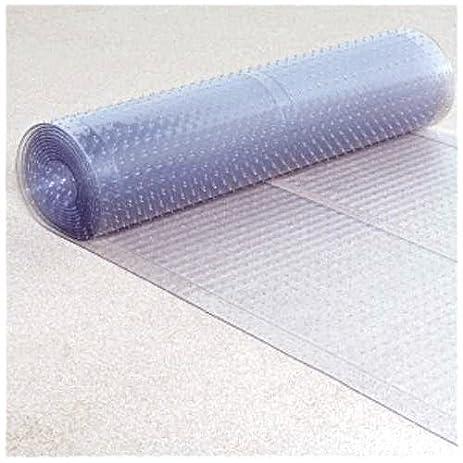Clear Plastic Runner   Rug Carpet Ribbed Grip Plastic Protector Mat  (27u0026quot; ...