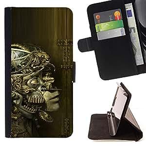 BullDog Case - FOR/LG OPTIMUS L90 / - / robot ai alien futurism art anatomy design /- Monedero de cuero de la PU Llevar cubierta de la caja con el ID Credit Card Slots Flip funda de cuer