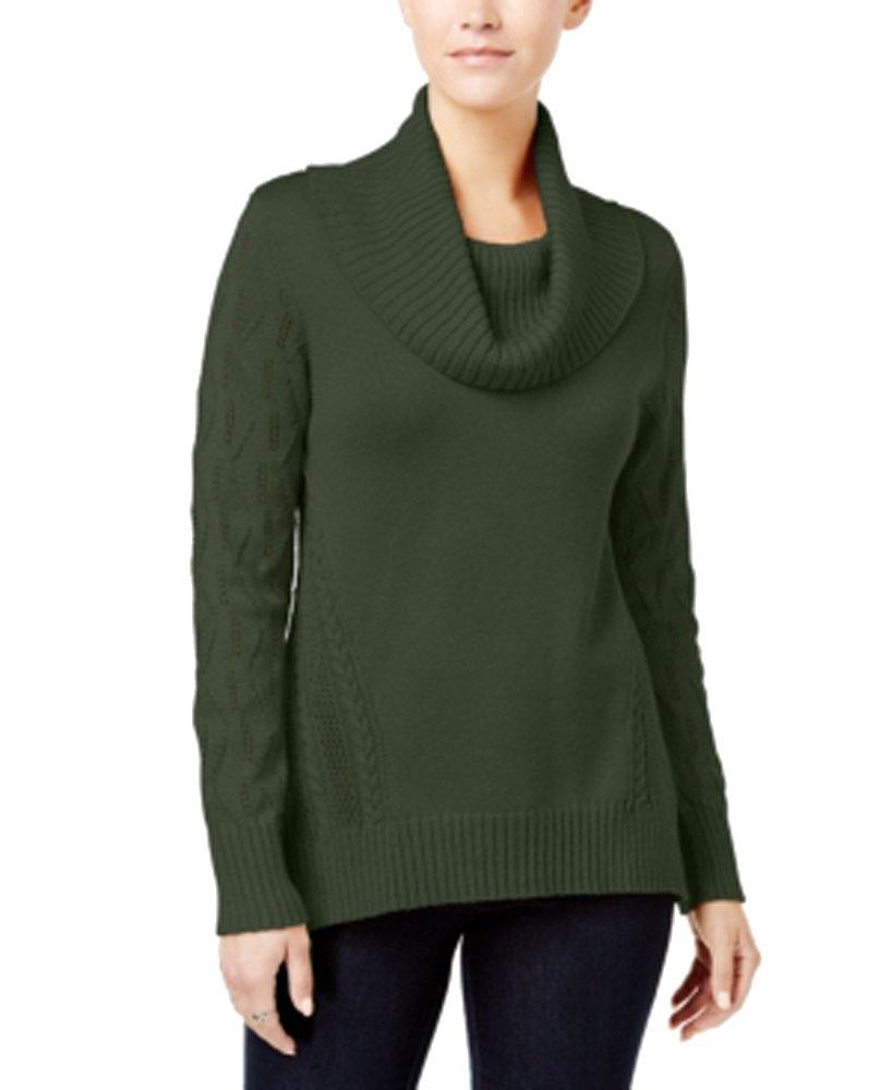 Style & Co. Cowl-Neck Tunic Sweater (Dark Ivy, XL)