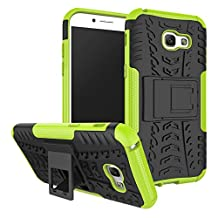 Samsung Galaxy A5 2017 Case, Samsung A5 2017 Case, A5 2017 Case, Moment Dextrad [Kickstand] [Dual Layer] [Non-Slip] [Scratch/Dust Proof] (Galaxy A5 2017 Hybrid Full-body case) + Capacitive Stylus (Greenyellow)