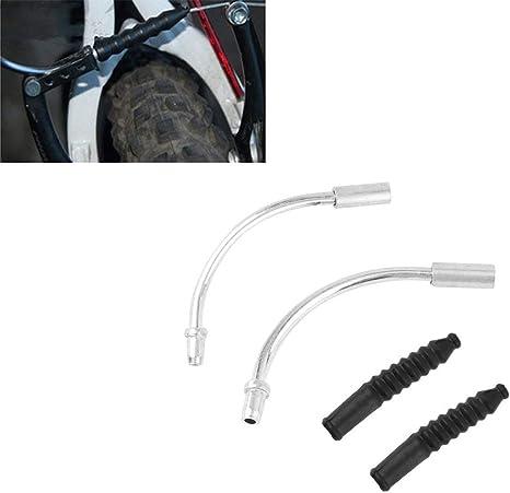 JohnJohnsen 1 par de Bicicletas V Fideos Freno Guía de Cable Codo ...