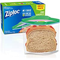 3 X 280-Count Ziploc Sandwich Bags with New Grip 'n Seal Technology