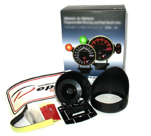 DEPO 52mm Digital Racing Red White LED Digital Water Temp Gauge Fahrenheit
