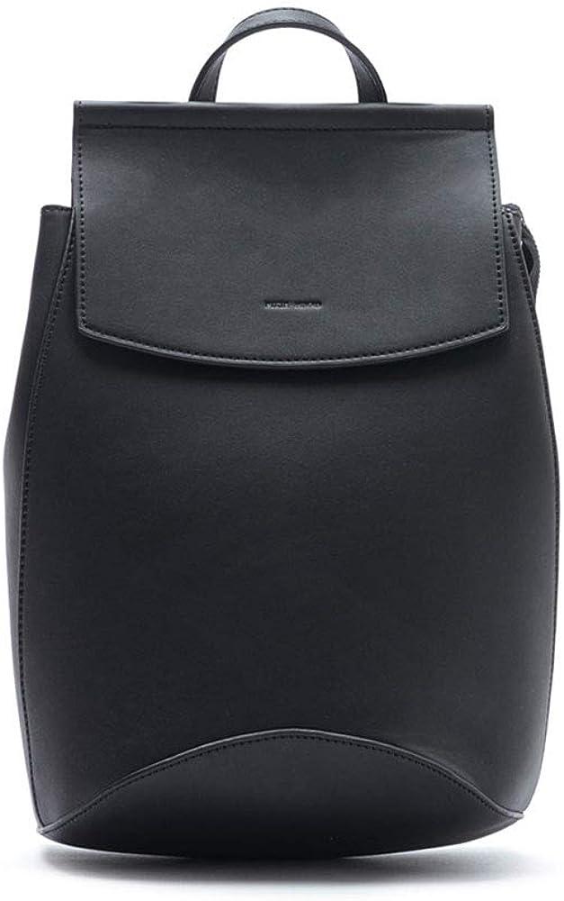 Kim Convertible Black 13 x 10 Vegan Leather Basic Multipurpose Backpack