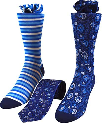 Peargo Men's Tie and Socks Set One Size Clear Sky