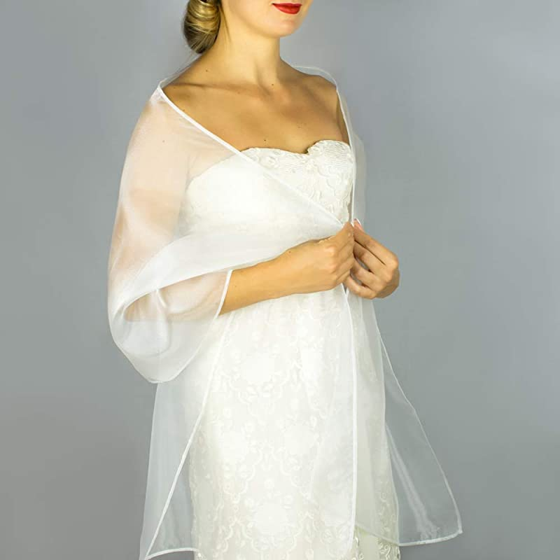 cocktail Large stole 250x75cm ceremony Wedding Star Christmas White stole in organza party year-end party.