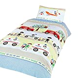 Emergency Vehicles Childrens/Boys Single (Twin) Duvet Cover Bedding Set (Twin) (Multicolored)