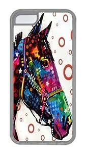 horse TPU Case Cover for iPhone 5C Transparent