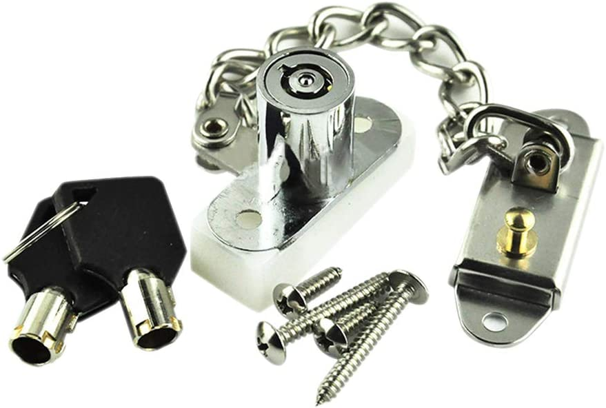 Window Restrictor Window Door Restrictor Lock with Screws Kids Safety Security for Home and Commercial Applications